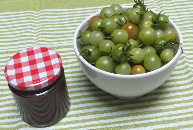 Chutney de tomate cherry verde. CP